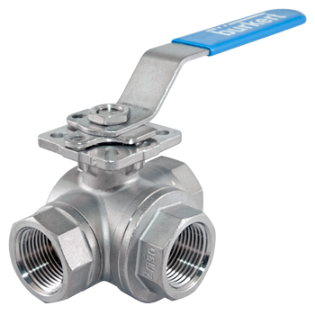 Type TKU003 - 3-Way Ball Valve with T-Bore