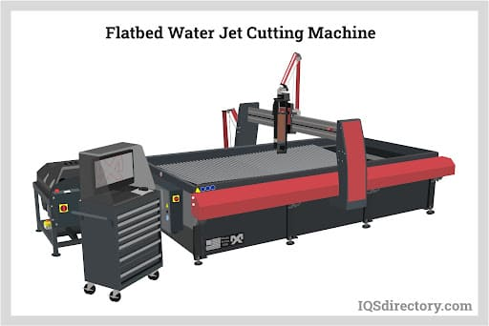 Flatbed Water Jet Cutting Machine