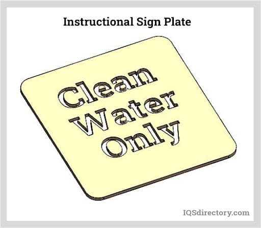 Instructional Sign Plate