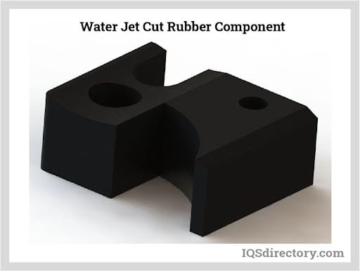 Water Jet Cut Rubber Component