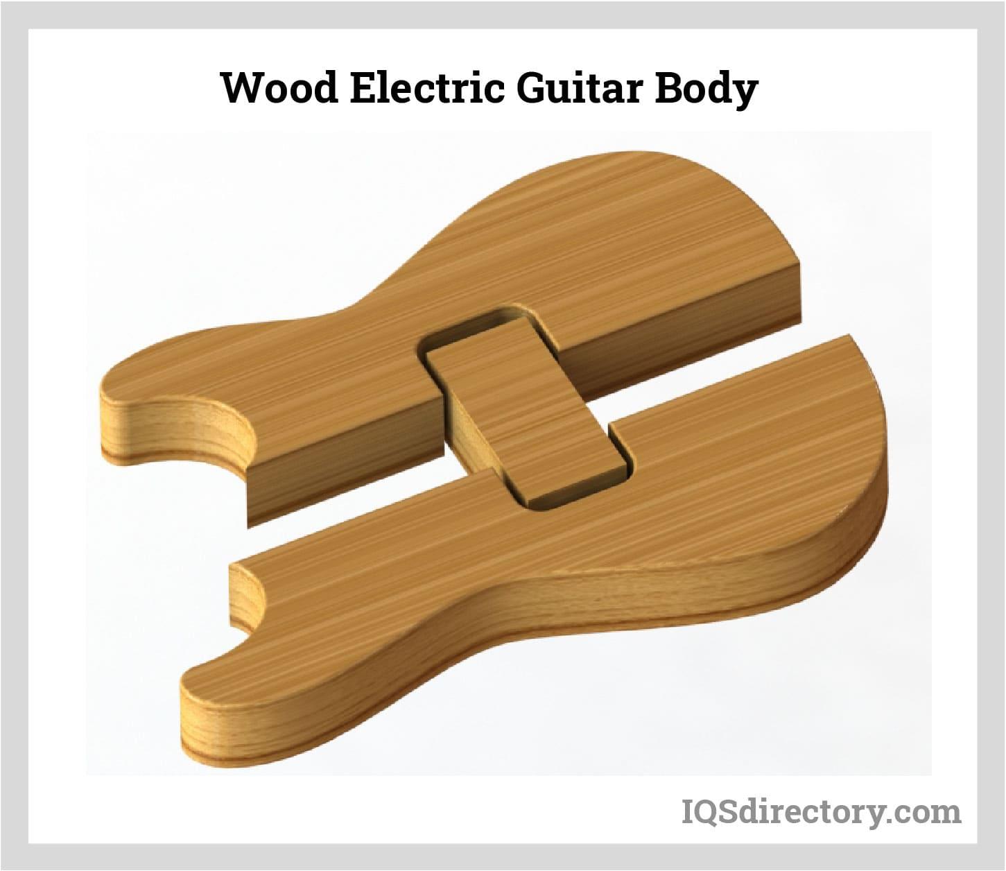 Wood Electric Guitar Body