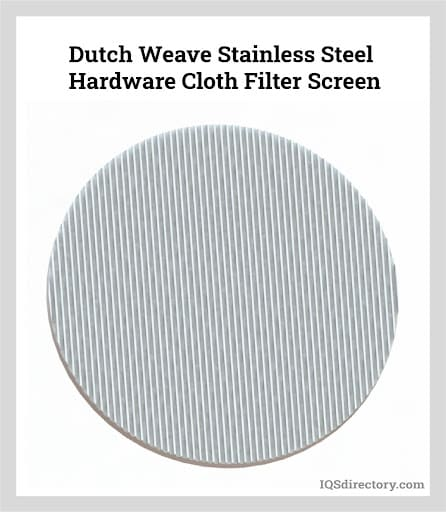 Dutch Weave Stainless Steel Hardware Cloth Filter Screen