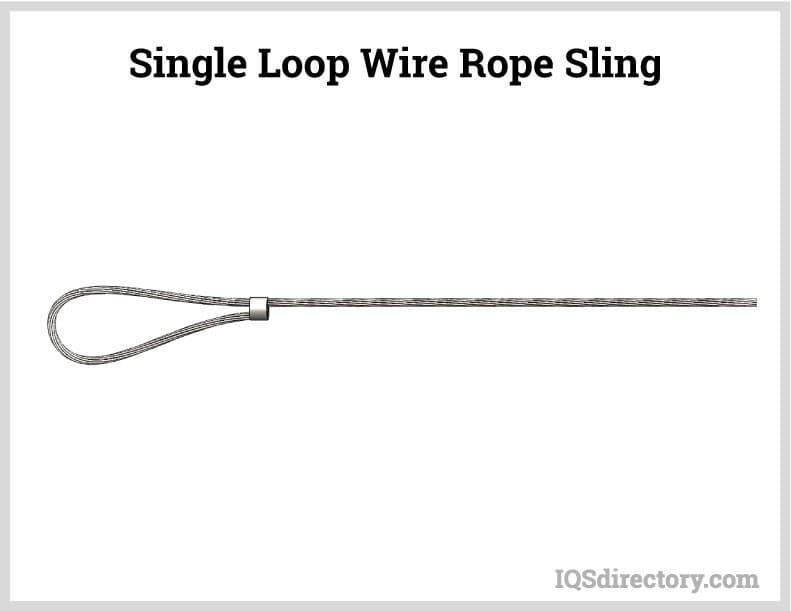 Single Loop Wire Rope Sling