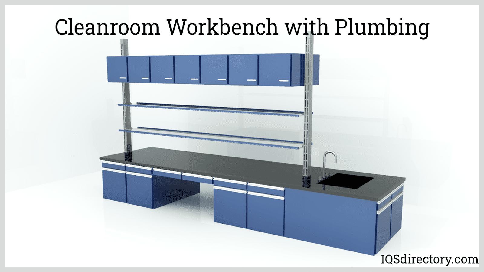 Cleanroom Workbench with Plumbing