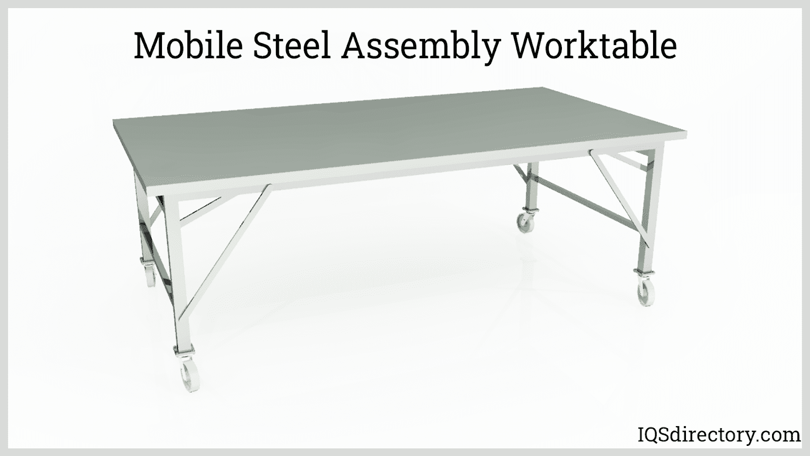 Mobile Steel Assembly Worktable