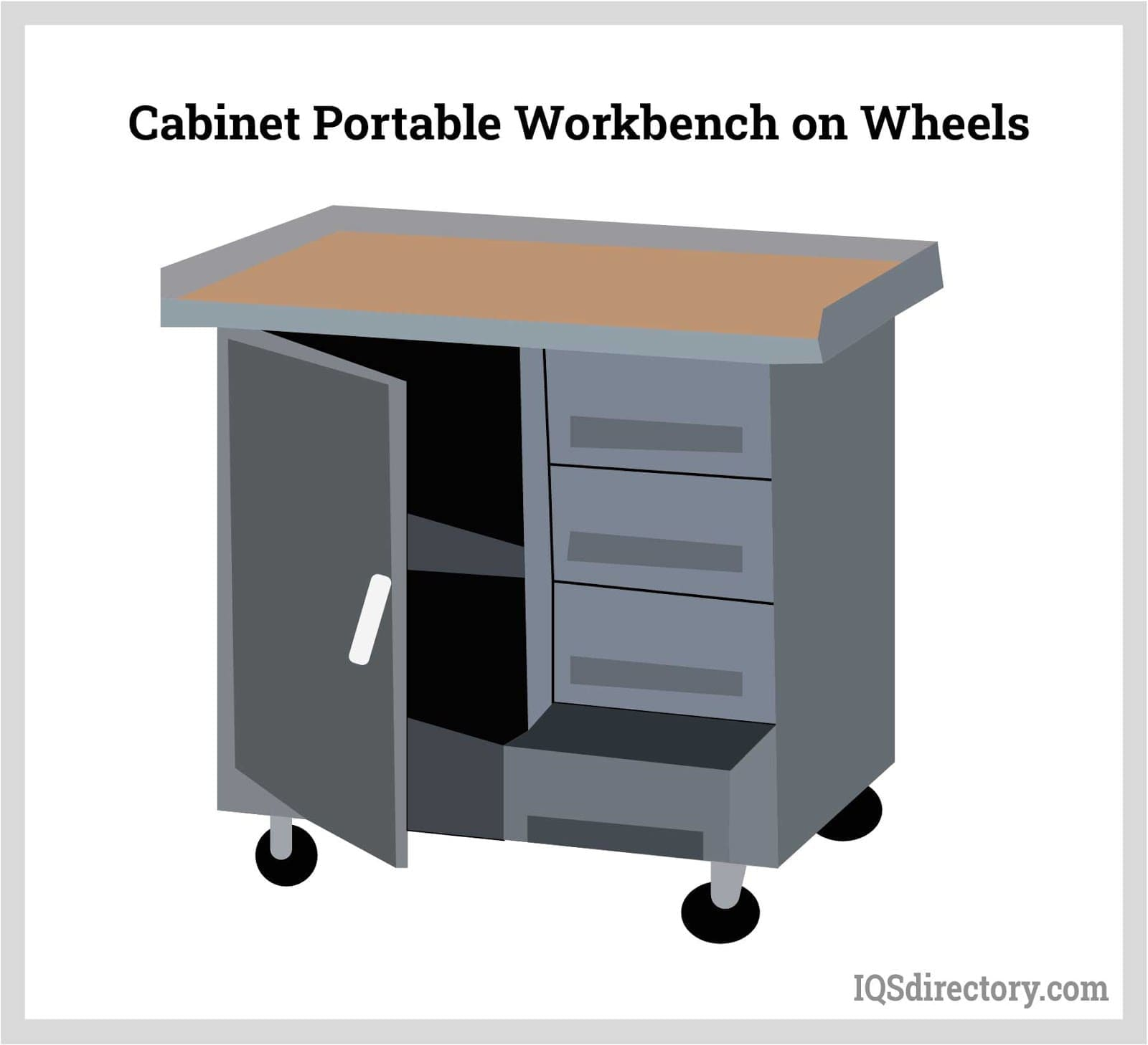 Cabinet Portable Workbench on Wheels