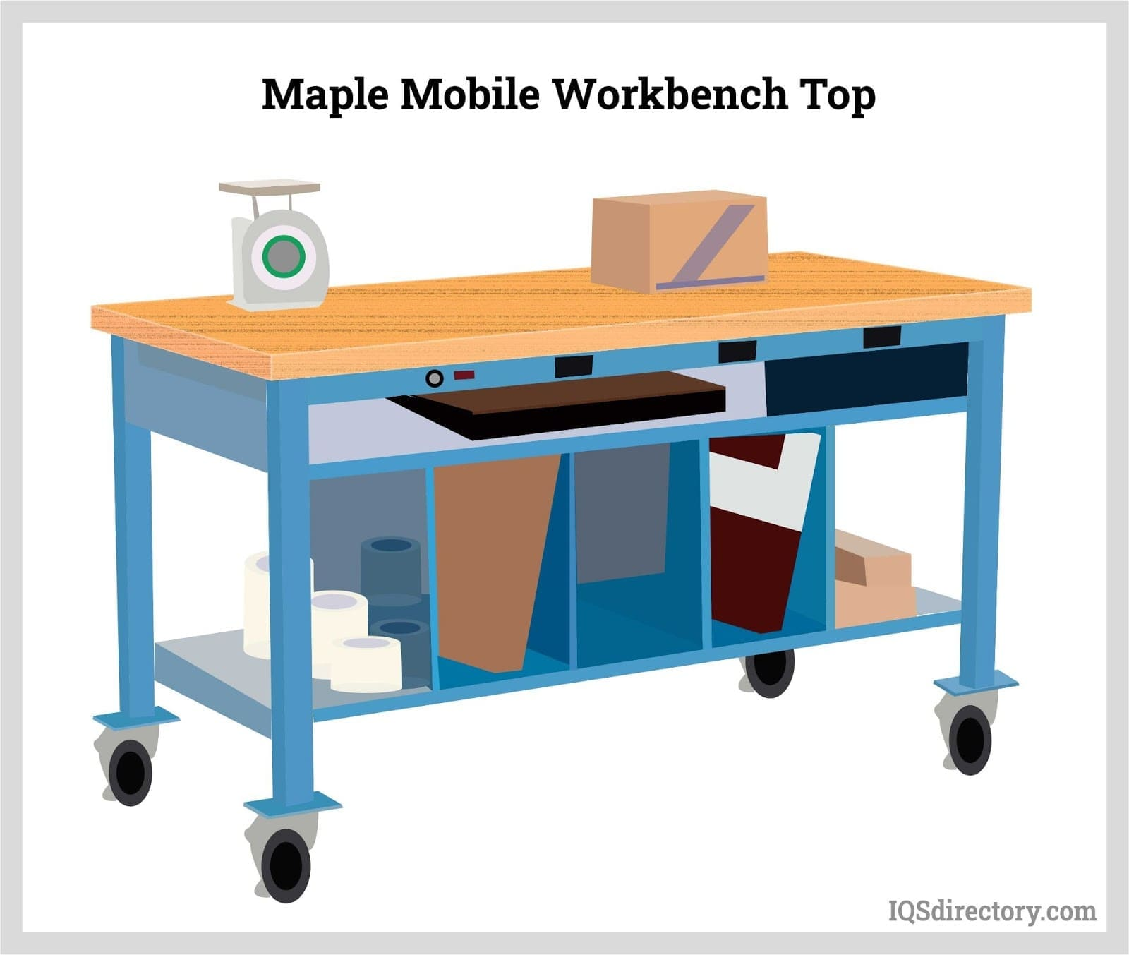 Maple Mobile Workbench Top