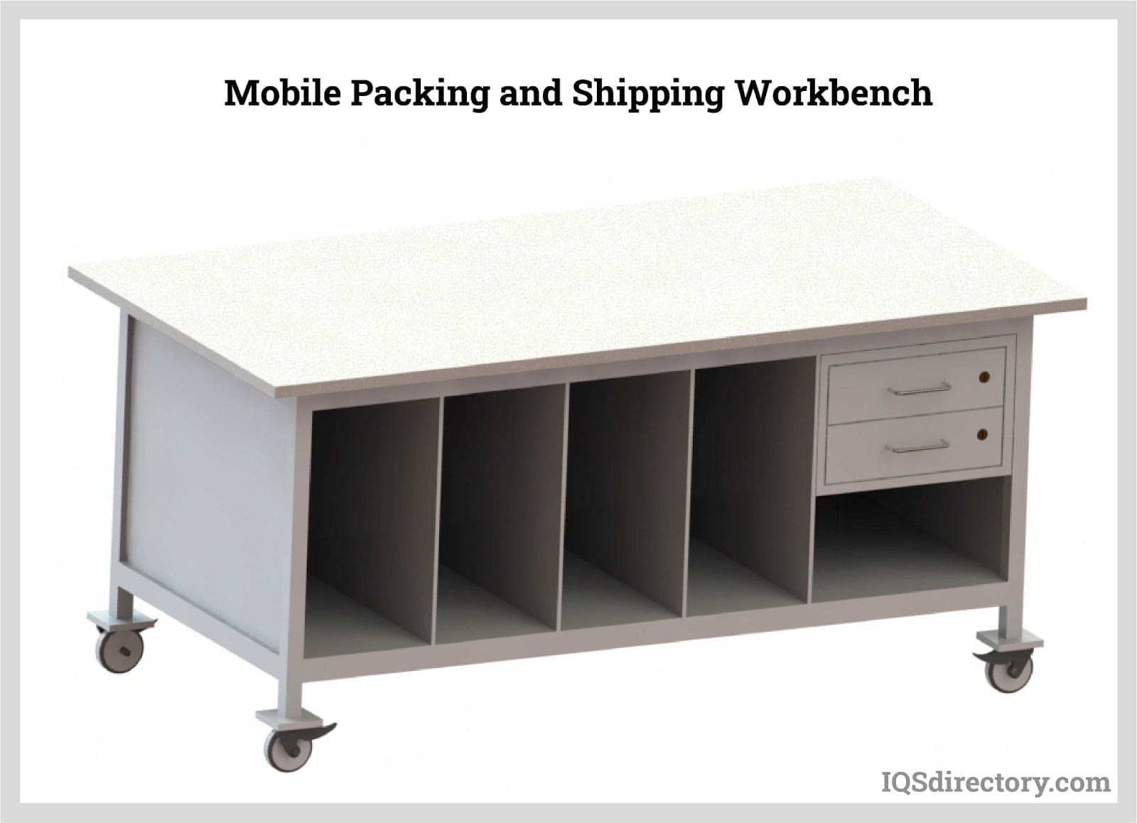 Mobile Packing and Shipping Workbench