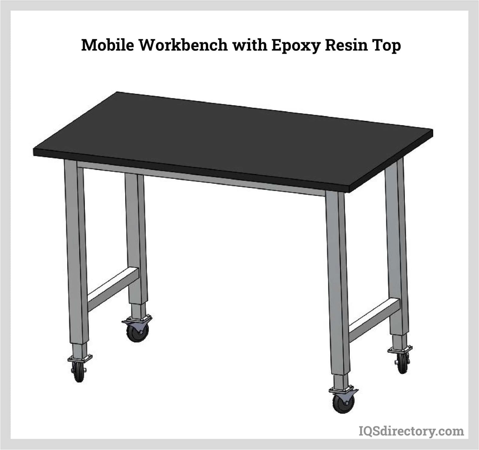 Mobile Workbench with Epoxy Resin Top