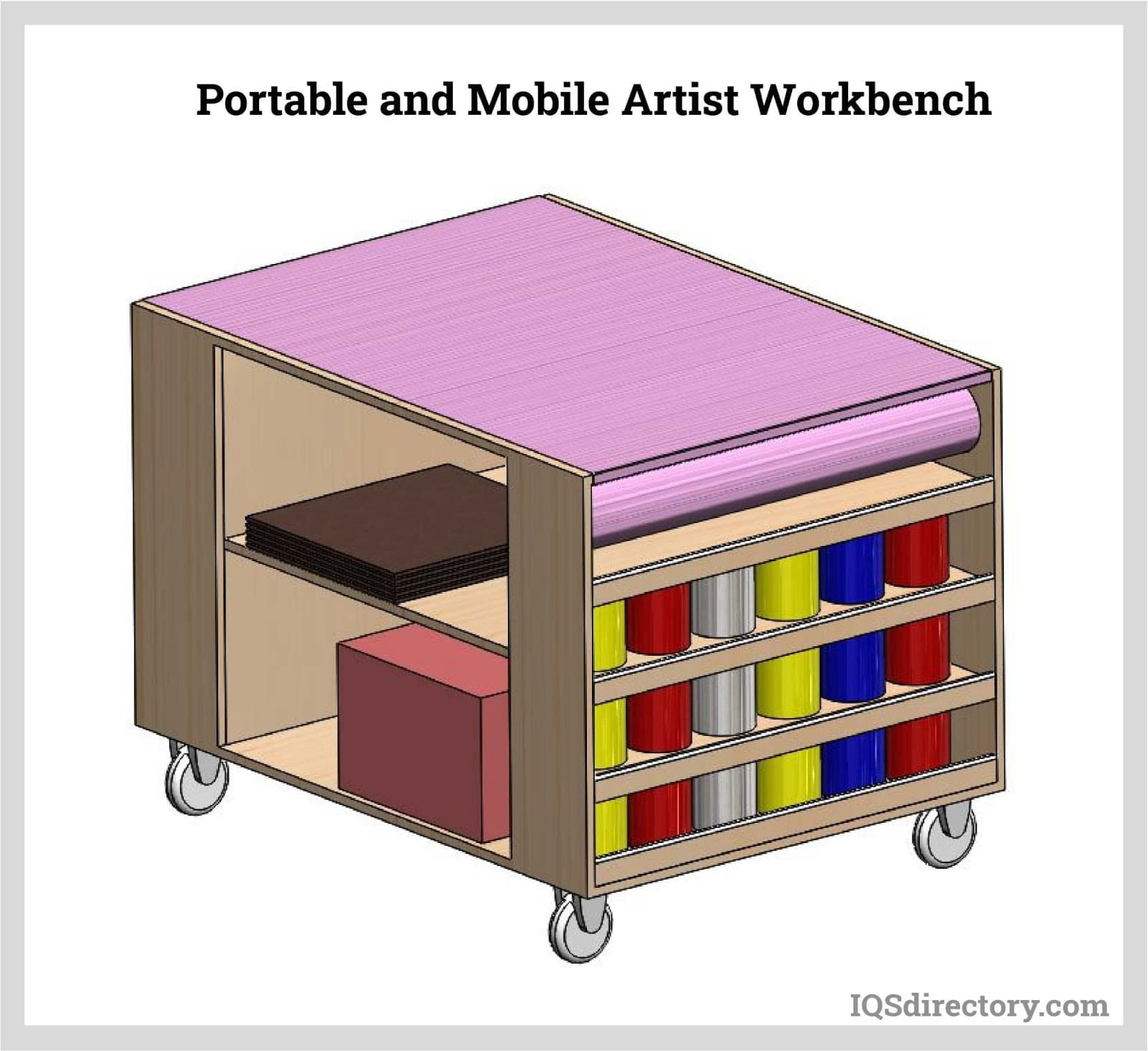 Portable and Mobile Artist Workbench