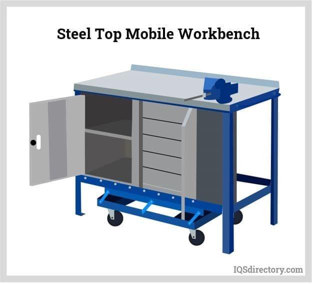 Steel Top Mobile Workbench