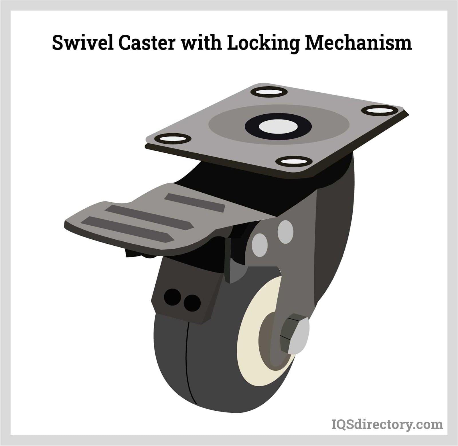 Swivel Caster with Locking Mechanism