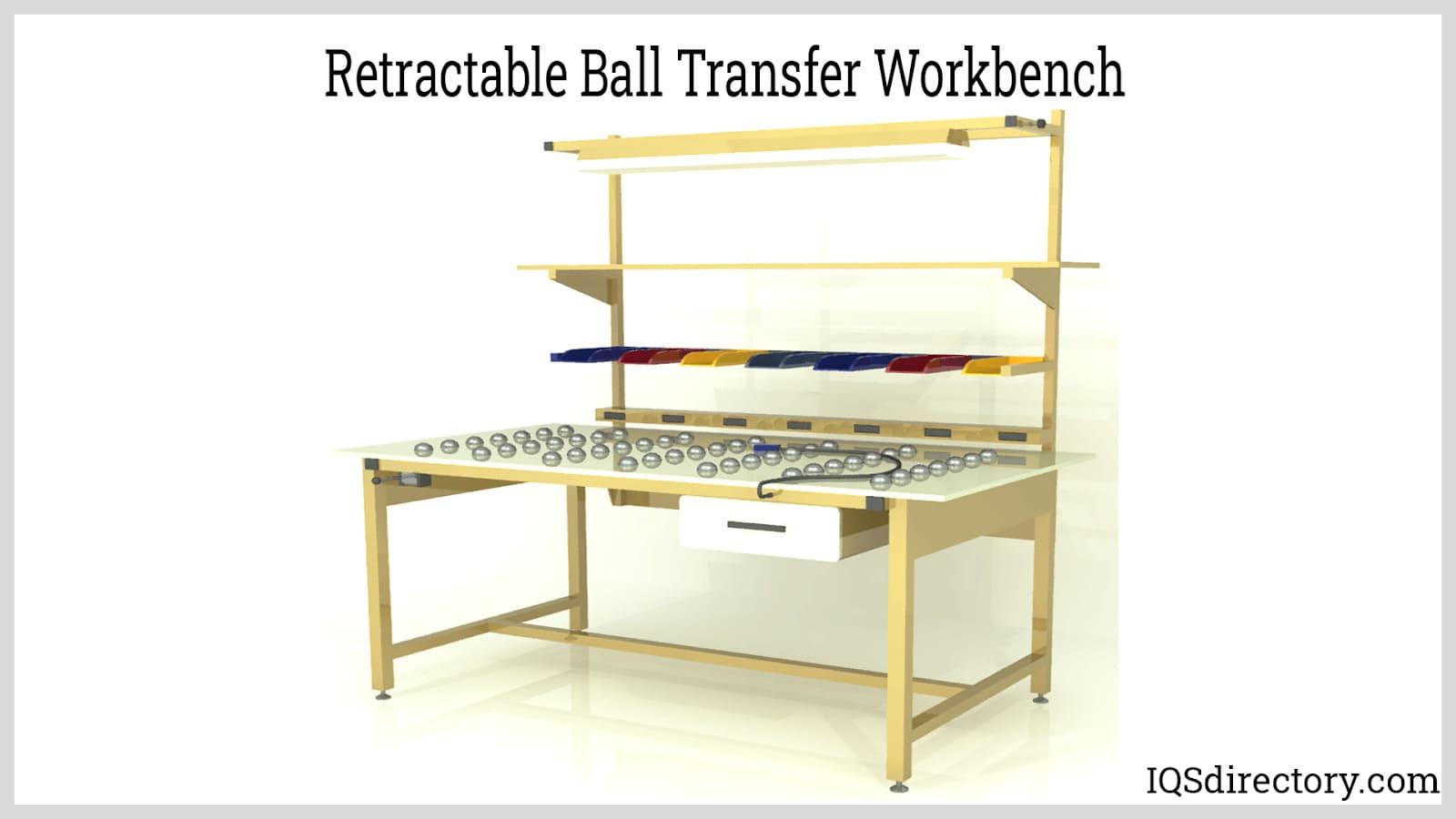 Retractable Ball Transfer Workbench