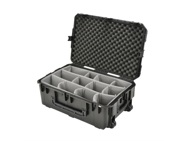 Rolling Case with Interior Dividers