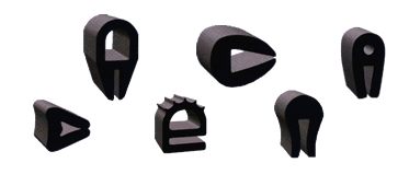 extruded rubber U channels