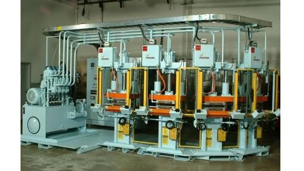 Multiple Heated Platen Bonding Press