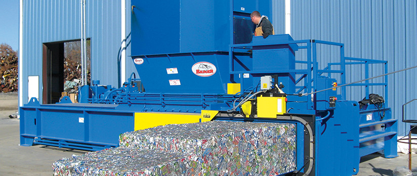 Two-Ram Baler for Plastic Bottle Recycling
