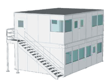 Two Level Modular Office