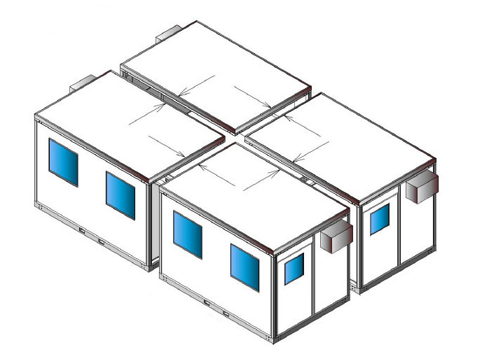 Prefab Qube-System Offices