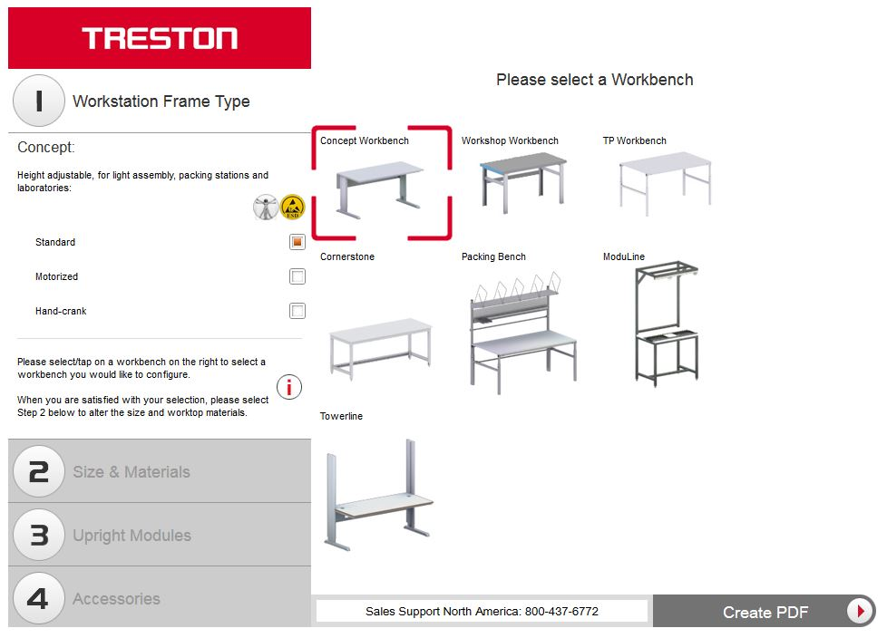 Treston Improves 3D Workstation Configurator Tool