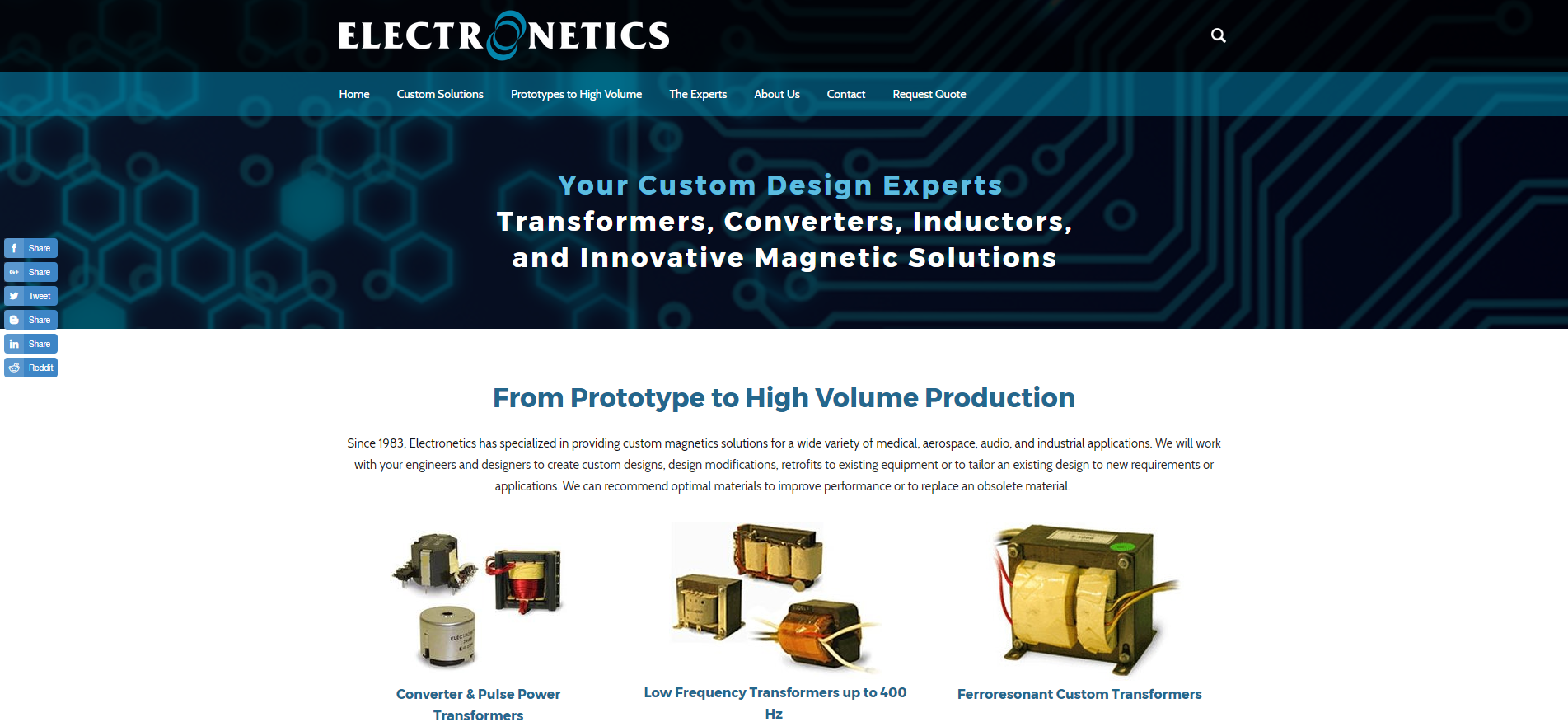 Electronetics Launches New Website with Clean Design