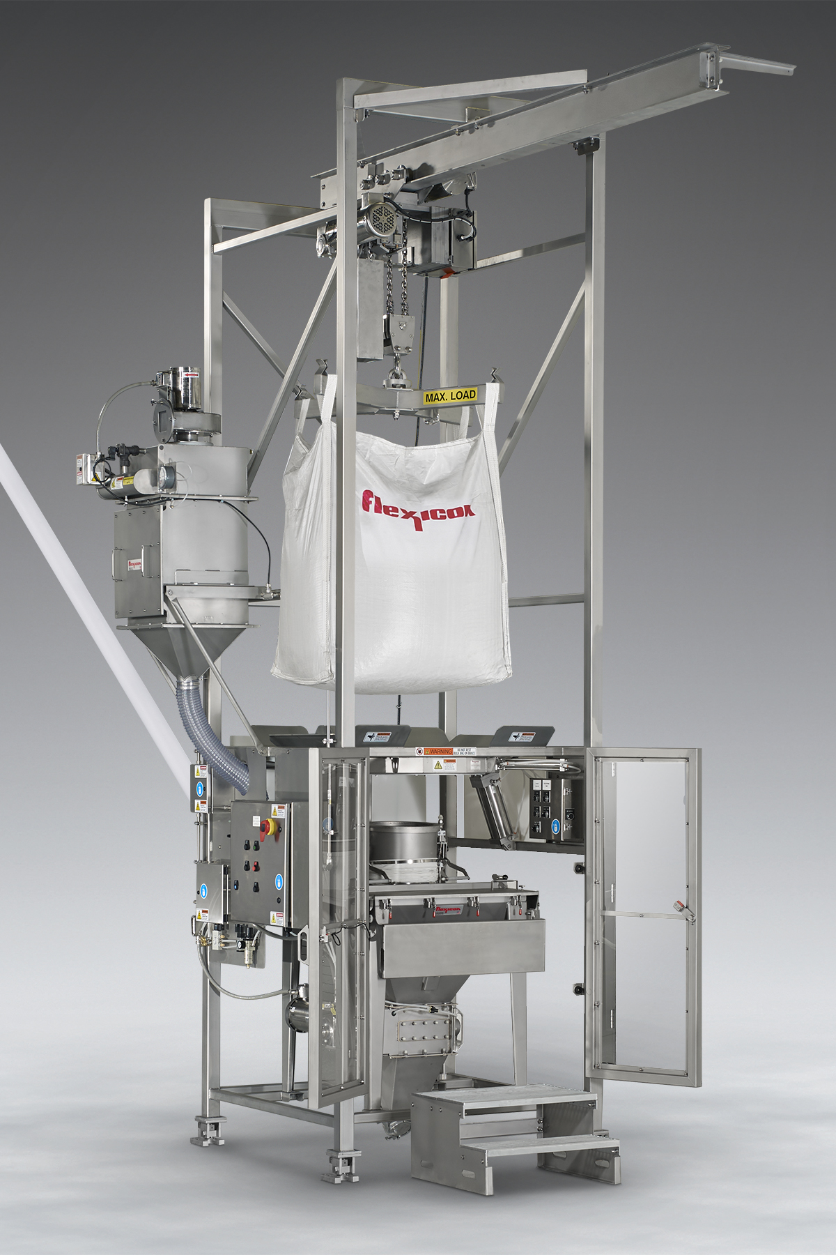 Sanitary Bulk Bag Weigh Batch Unloader by Flexicon
