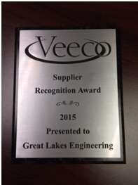 Supplier Award from Veeco for GLE