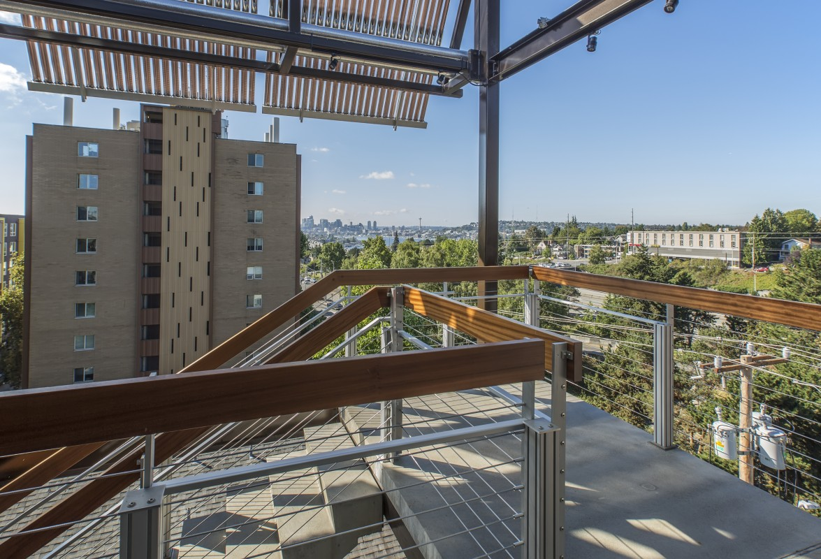 Lexco Cable Railing Installed in Mixed-Use Residential Building