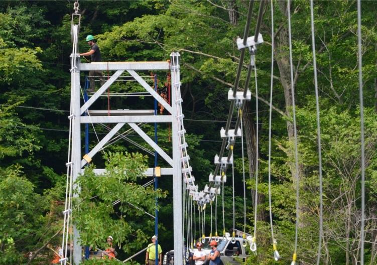 Suspension Bridge in Vermont Built with Lexco Cable