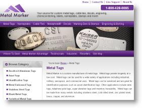 metal marker manufacturing