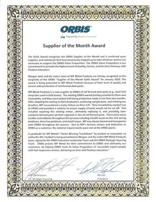 Orbis Award