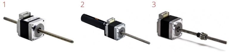 Three types of stepper motors