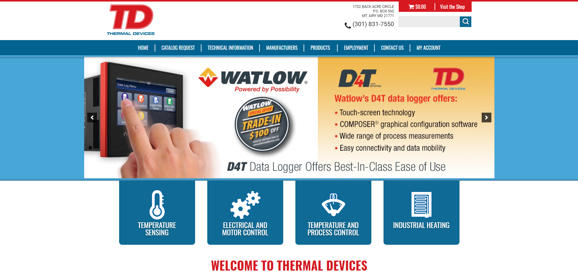 Thermal Devices' Updated Website is Functional & Attractive