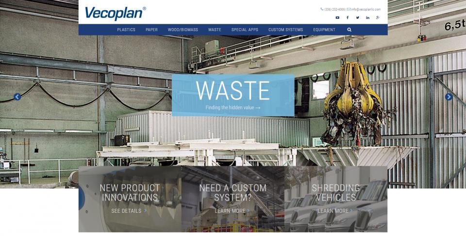 Vecoplan's New Website