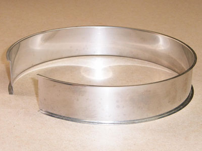 O-101 stainless roll formed flywheel retainer ring