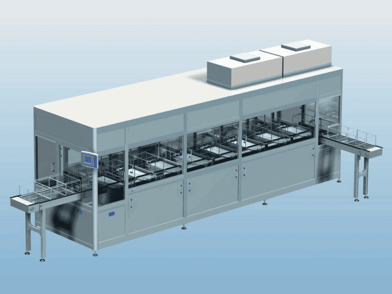 Multiple Transport Configuration Ultrasonic Cleaning System